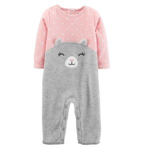 Carter's cat face coverall jumpsuit 24 mo.